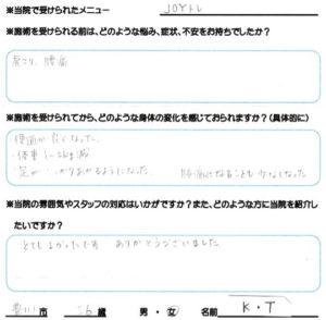 豊川市 JOYトレ 50代 女性 K.Tさん